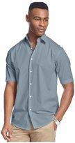 John Ashford Mens Shadow Striped Button Up Shirt