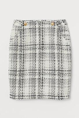 H&M Boucle Skirt - White