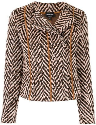 Giorgio Armani Chevron Embroidered Jacket