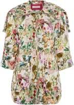 Eliza J Printed anorack coat