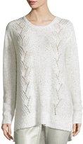 NYDJ Sparkle Embellished Oversized Crewneck Sweater