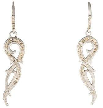 Armenta Diamond New World Pointed Swirl Drop Earrings