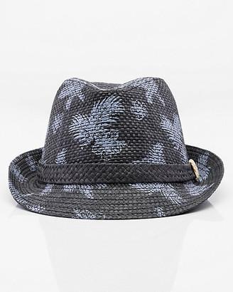 Le Château Floral Straw Fedora Hat