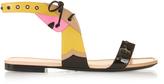 Fendi Bag Bugs colour-block leather sandals