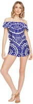 Trina Turk Algiers Off the Shoulder Romper Cover-Up Women's Swimsuits One Piece