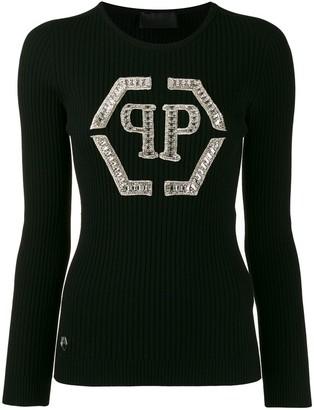 Philipp Plein crystal-embellished jumper