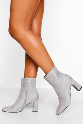 boohoo Low Curved Heel Shoe Boot
