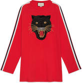 Gucci Oversize cotton t-shirt with panther