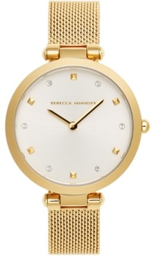 Rebecca Minkoff Women's Nina Gold-Tone Stainless Steel Mesh Bracelet Watch 33mm