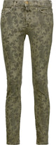 Current/Elliott The Stiletto printed cotton-blend skinny pants