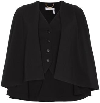 Chloé virgin wool blend waistcoat cape