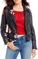 Chelsea & Violet Faux Leather Embroidered Jacket
