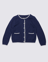 Marks and Spencer Pure Cotton Cardigan (3 Months - 5 Years)