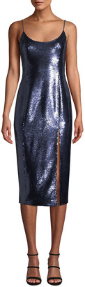 Misha Collection Avery Sleeveless Sequin Slip Cocktail Dress