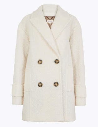 Per Una Per UnaMarks and Spencer Double Breasted Boucle Coat