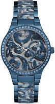 GUESS Women's Baroque Solid & Patterned Sky Blue Stainless Steel Bracelet Watch 39mm U0843L2