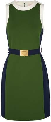 Tory Burch Green Panelled Jersey Dress