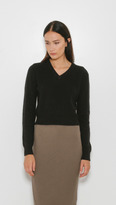 Organic by John Patrick Crop V-Neck Sweater