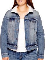 Arizona Sherpa-Lined Denim Jacket - Juniors Plus