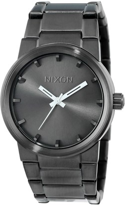 Nixon Mens Cannon Japanese quartz Stainless Steel watches All Gunmetal A160