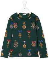 Dolce & Gabbana printed long sleeve top