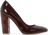 Dune Anniston embossed-heel patent-effect courts