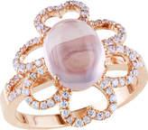Cat Eye Amour Coffee Silver Ring (Women's)