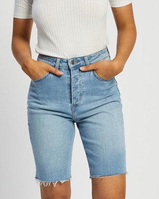 Lee Women's Blue Denim - Long Shorts - Size 6 at The Iconic