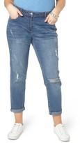 Evans Plus Size Women's Doodle Boyfriend Jeans