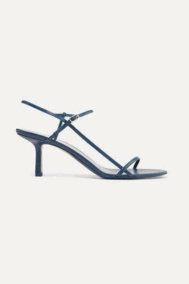 The Row Bare Leather Sandals - Navy