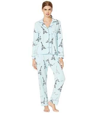The Cat's Pajamas Etched Eiffel Pima Knit Pajama Set