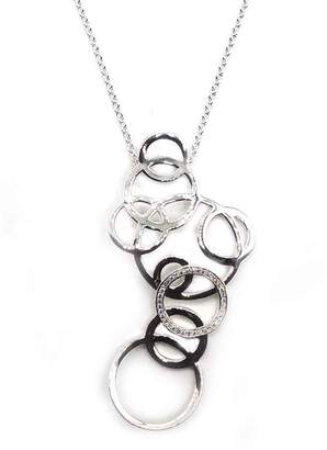 Ippolita Sterling Silver Stardust Large Cutout Diamond Circle Necklace - 0.29 ctw