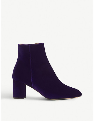 LK Bennett Jette velvet and leather ankle boots