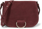 Little Liffner - D Saddle Medium Suede Shoulder Bag - Burgundy