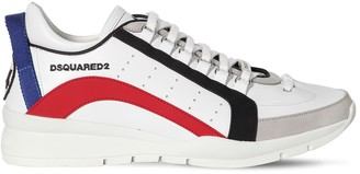 DSQUARED2 LEATHER LOW TOP SNEAKERS
