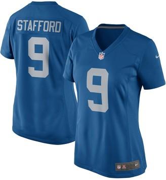 Nike Women's Matthew Stafford Blue Detroit Lions 2017 Throwback Game Jersey