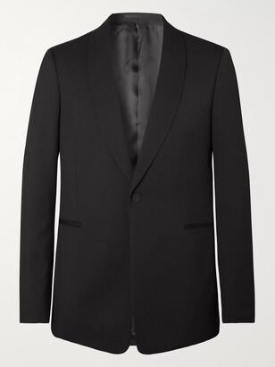 The Row Archer Black Slim-Fit Grain De Poudre Virgin Wool Tuxedo Jacket