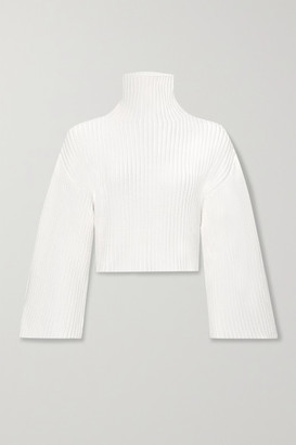 LAPOINTE - Ribbed-knit Turtleneck Sweater - White