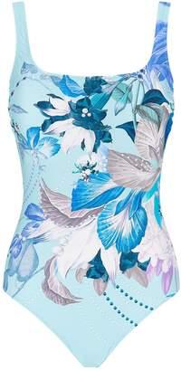 Gottex Floral Square Neck Swimsuit