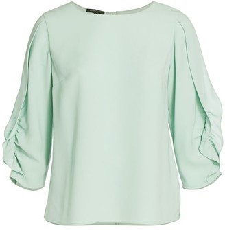 Lafayette 148 New York, Plus Size Perrin Ruffle Blouse