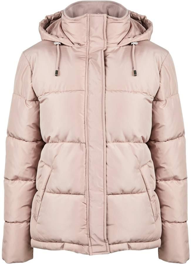 Dorothy Perkins Womens Blush Short Padded Jacket