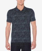 Perry Ellis Men's Big & Tall Eclipse Line-Graphic Polo