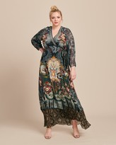 Camilla Wrap Dress with Piping Detail