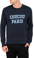 Ami Men Coucou Paris Flock Crew Neck Sweatshirt