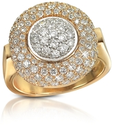 Forzieri 1.49 ct Diamond Pave 18K Gold Ring