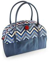 2 Red Hens Coop Carry-All Diaper Bag, Blue Chevron by
