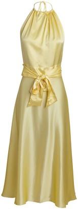 HARMUR Silk Halter Midi Dress
