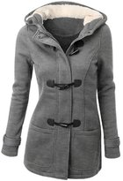 knight horse Womens Wool Blended Classic Pea Coat Jacket