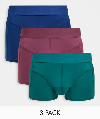 ASOS DESIGN 3-pack boxer shorts in microfiber