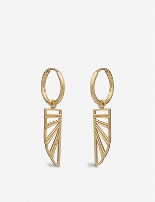 Rachel Jackson Wings of Freedom 22ct gold-plated sterling silver earrings